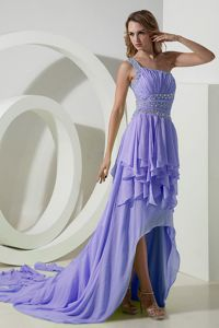High-low One Shoulder Semi-formal Prom Dresses in Lilac in Goulburn