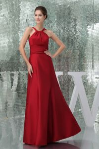 Satin Strapless Wine Red Prom outfits in Contin Highlands and Islands