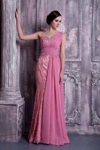 Lace and Chiffon One Shoulder Prom Dresses Bucksburn Grampian