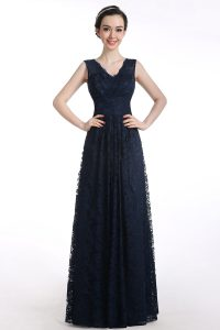 Pretty Black Sleeveless Chiffon Zipper Prom Dress for Prom and Party
