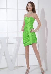 Spring Green Mini-length Prom Dress for Girls with Ruche in Wem Shropshire