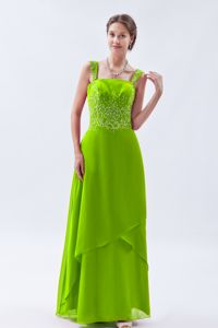 Spring Green Straps Beading Prom Gowns Chiffon in Widnes Cheshire