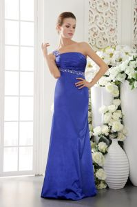Low Price One Shoulder Beaded Dress for Prom with the Back out
