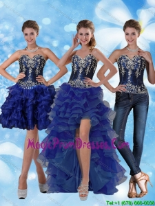Most Popular Sweetheart Detachable Prom Skirts with Ruffled Layers and Embroidery