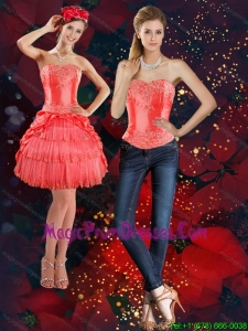 The Super Hot Strapless 2015 Detachable Prom Skirts with Beading and Pick Ups