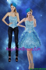 New Style 2015 Sweetheart Detachable Prom Skirts with Embroidery and Pick Ups