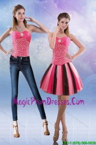 New Style 2015 Sweetheart Multi Color Detachable Prom Skirts with Beading