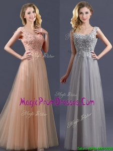 New Arrivals Empire Floor Length Prom Dress with Appliques