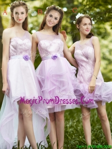 New Style Laced Lavender Tulle Prom Dress For Summer