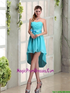 2015 Decent Sweetheart A Line Prom Dress with Ruching and Belt