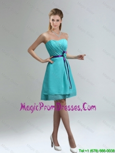 2016 Classical Blue And Purple Sweetheart Prom Dresses with Ruches