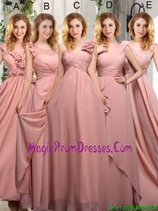 Empire Ruching 2016 Sturning Fashionable Prom Dresses in Peach