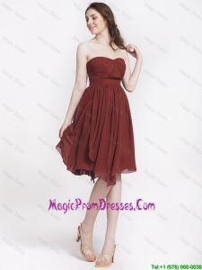 Beautiful Chocolate Sweetheart Prom Dresses with Ruching
