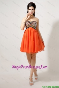 Latest Beaded and Sequined Prom Dresses in Orange