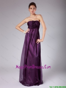 Perfect Ruched Sweetheart Prom Gowns with Hand Made Flowers
