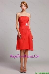 New Arrival Appliques Short Prom Dresses in Orange Red