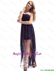 Most Popular Strapless Backless Prom Dresses with High Low