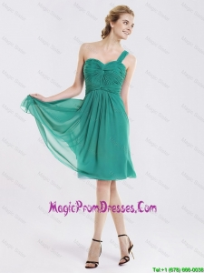 Popular Short One Shoulder Prom Dresses with Ruching