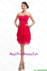 Fashionable Hand Made Flowers Prom Dresses with Sweetheart