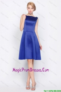 2016 Modest Empire Bateau Prom Dresses in Royal Blue