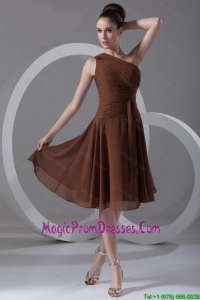 Perfect Short One Shoulder Prom Dresses with Knee Length