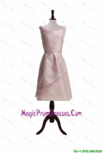 2016 Romantic Light Pink Short Prom Dresses with Ruching
