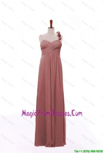New Arrival Spaghetti Straps Hand Made Flowers and Ruching Prom Dresses