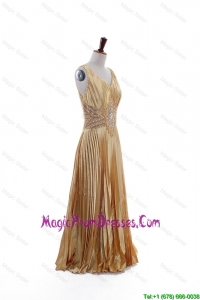 Formal Custom Made Empire V Neck Prom Dresses with Beading