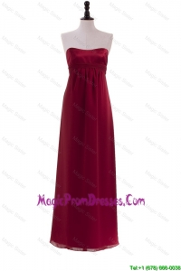 New Style Ruching Wine Red Prom Dresses for 2016