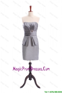 Recommend Beading Short Grey Prom Dresses in Grey