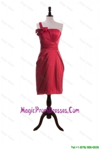 Recommend Bowknot and Ruching Short Prom Dresses in Wine Red