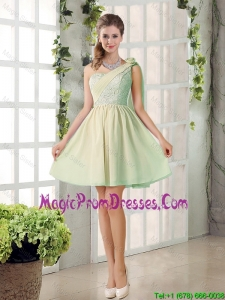 Custom Made A Line One Shoulder Lace Prom Dresses