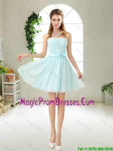 Elegant Strapless Mini Length Romantic Prom Dresses with Bowknot