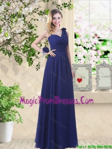 Classical Hand Made Flowers Prom Dresses with Asymmetrical