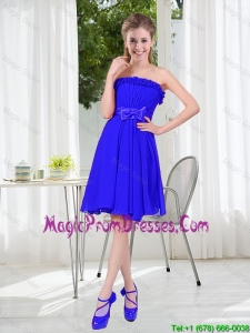 Short Strapless Prom Dresses for Wedding Party