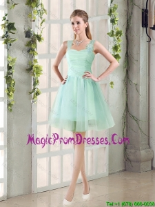 2016 Custom Made A Line Straps Prom Gowns with Ruching