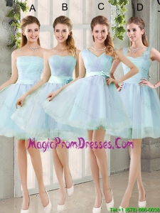 2016 Summer A Line Prom Gowns with Belt