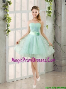 2016 Summer A Line Strapless Ruching Prom Gowns in Tulle