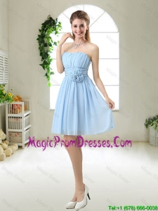 Perfect Strapless Prom Gowns with Hand Made Flowers