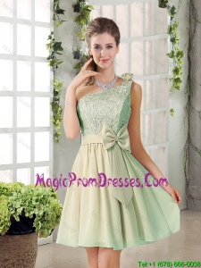 Short A Line One Shoulder Lace 2016 Summer Prom Gowns
