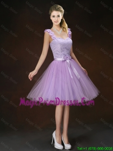 Luxurious Appliques and Bowknot Prom Gowns with Straps