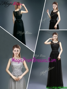 Cheap Empire Scoop Lace Prom Dresses for 2016 Spring