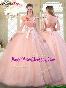 2016 Beautiful Asymmetrical Prom Dresses with Bowknot