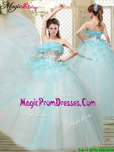 Fall Beautiful Strapless Prom Dresses with Appliques and Ruffles