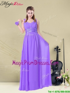 Best Empire Straps Prom Dresses with Ruching and Belt
