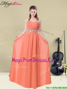 Pretty Empire Sweetheart Bridesmaid Dresses with Ruching and Belt