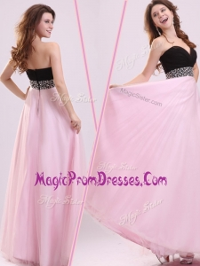 Famous Empire Sweetheart Beading Prom Dress in Baby Pink