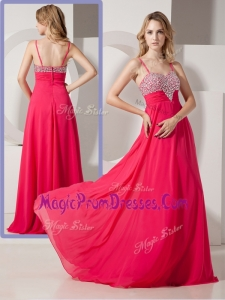 Famous New Style Spaghetti Straps Prom Dresses with Beading