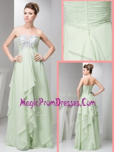 Famous Simple Empire Strapless Floor Length Sequins Prom Dresses