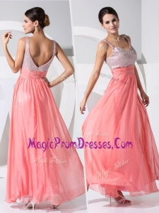 New Arrivals Amazing Empire Straps Sequins Prom Dresses in Watermelon